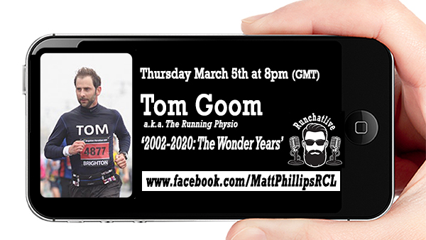 RCL40 with Tom Goom 'The Running Physio'
