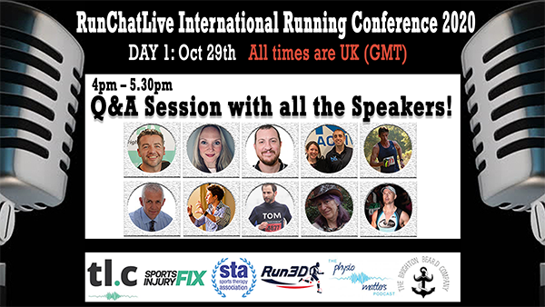 RunChatLive Running Conference: 5 Days To Go – Q&A sessions with ALL TEN SPEAKERS