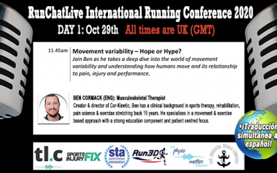 RunChatLive Running Conference: 8 Days To Go – Speaker 3: Ben Cormack – Movement Variability
