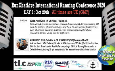 RunChatLive Running Conference: 7 Days To Go – Speaker 4: Nick Knight & Dr. Jess Bruce – Running Gait Analysis in Clinical Practice