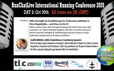 RunChatLive Running Conference: 3 Days To Go – Speaker 7: Claire Minshull 'Why Strength and Conditioning for Endurance Athletes is Non-Negotiable!'